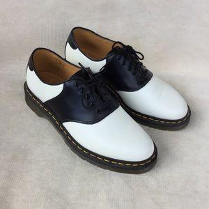 Dr Martens Rafi Black White Saddle Shoes Unisex